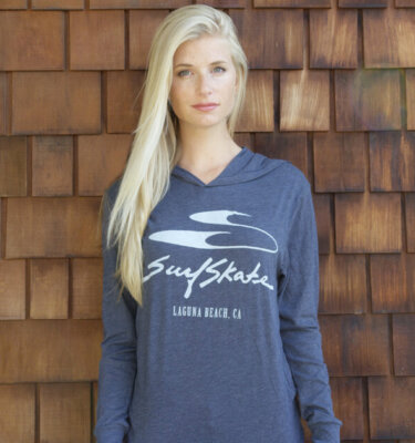 Navy Hooded Long Sleeve T