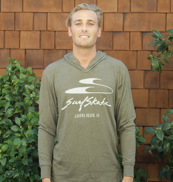 Olive Hooded Long Sleeve T